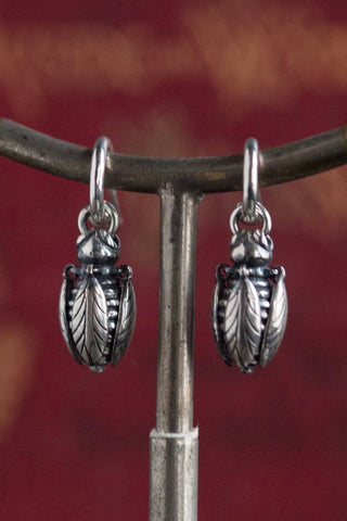 Bee Drop Earrings with Articulated Wings