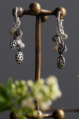 Mixed Pod Cluster Drop Earrings