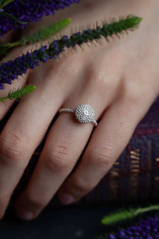 Bobbled Pollen Stacking Ring