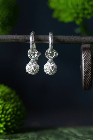Snowball Drop Earrings