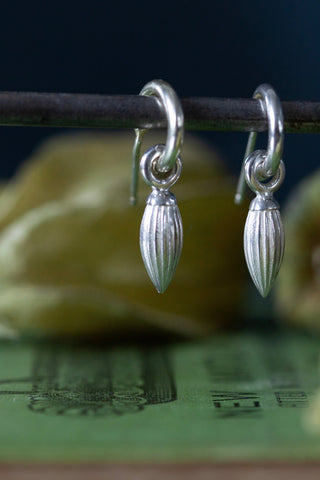 Pointed Pod Drop Earrings