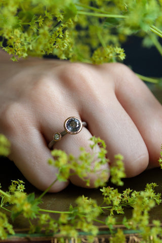 Two Stone Lilac Spinel Couplet Ring