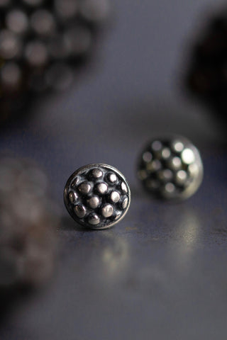 Blackberry Cup Stud Earrings