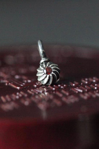 Gemstone Swirling Sepal Charm