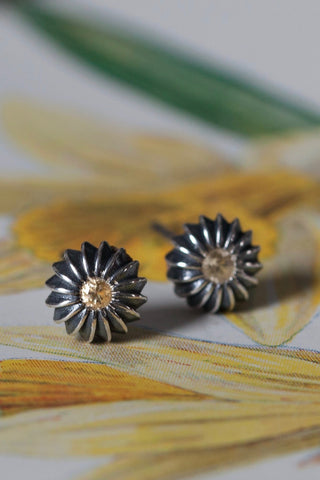 November Yellow Topaz Birthstone Satsuma Studs