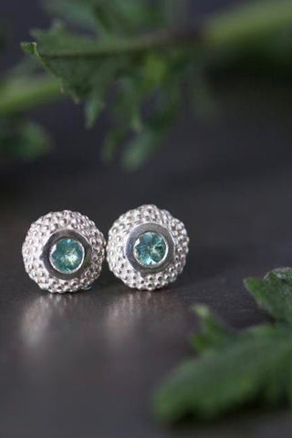 June Alexandrite Bobbled Pollen Stud Earrings