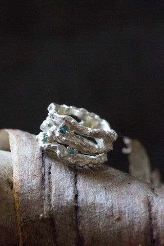 Branch Ring with Tourmalines