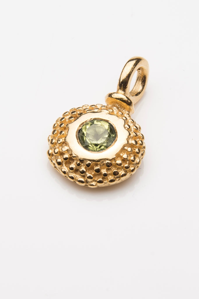 Birthstone Bobbled Pollen Charm Pendant Necklace