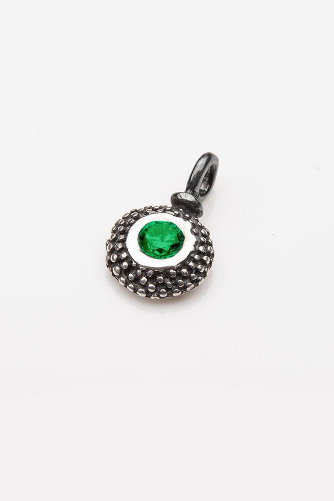 Gemstone Bobbled Pollen Charm - May Emerald