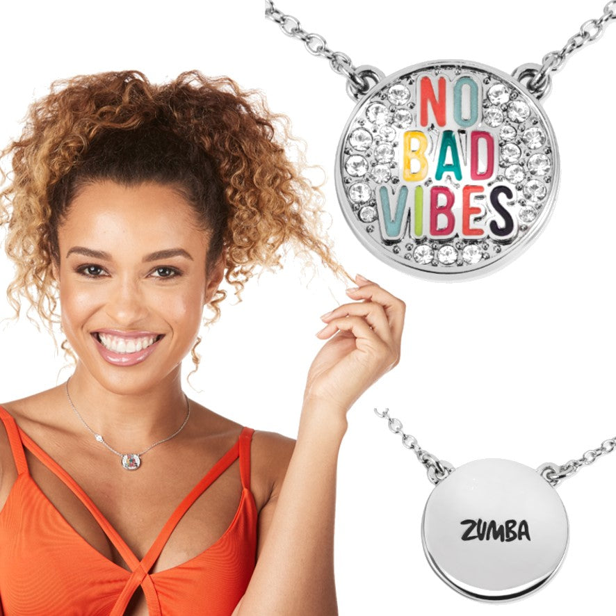 No Bad Vibes Zumba Necklace with Swarovski Crystals