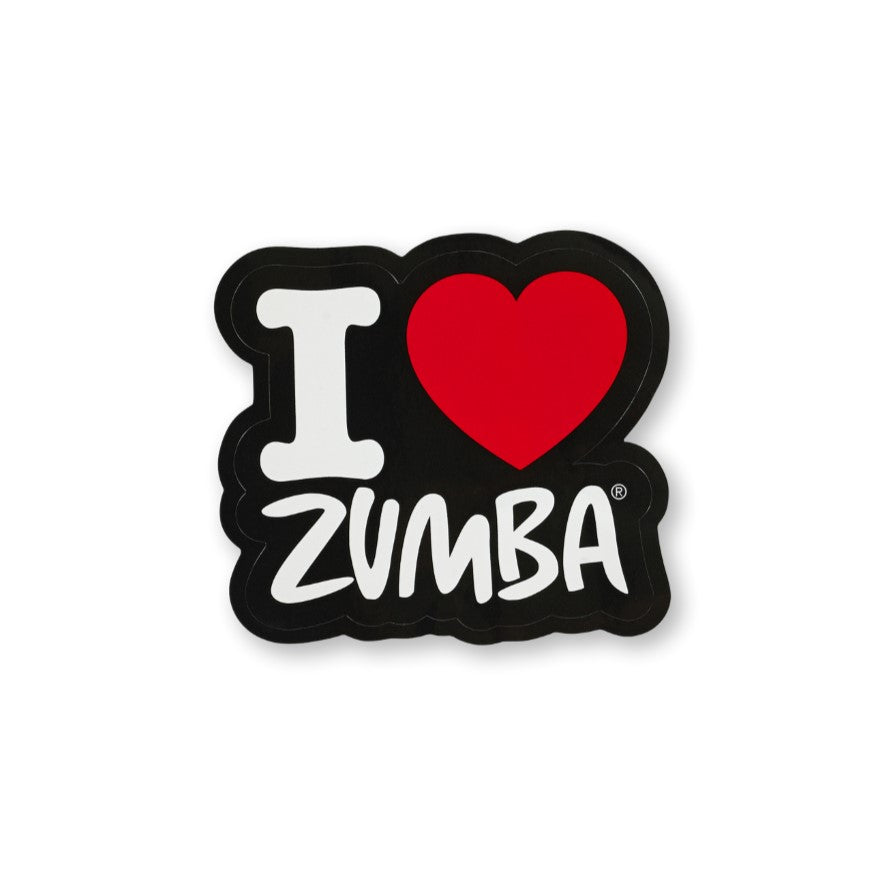 I Love Zumba Sticker