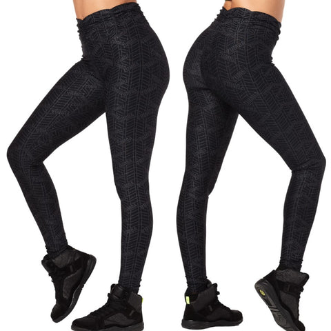 All That Glitters Is Zumba High Waisted Ruched Leggings