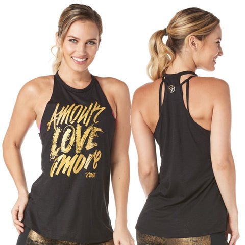 Amour Love Amore High Neck Tank (size XS, S, XXL)