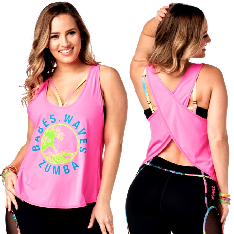 Babes Waves Zumba Open Back Tank (Pre-Order)
