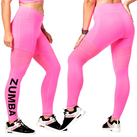 Bright Bold Zumba Ankle Leggings (size M)