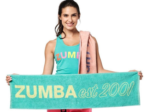 Bright Bold Zumba Fitness Towels 2 PK (Pre-Order)