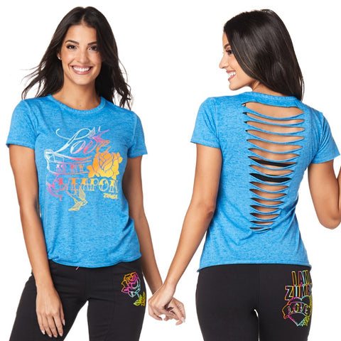 Celebrate Love Slashed Top (sizes XS,S & XL)