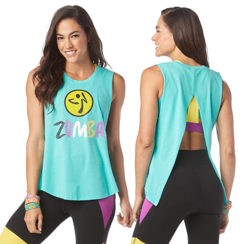 Dance Outside Open Back Tank (sizes L, XL)