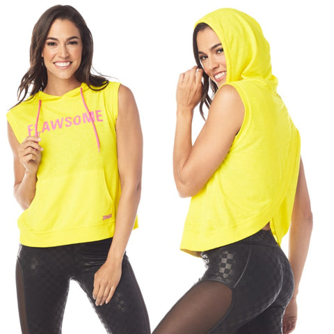 Flawsome Open Back Sleeveless Hoodie (sizes M, L)