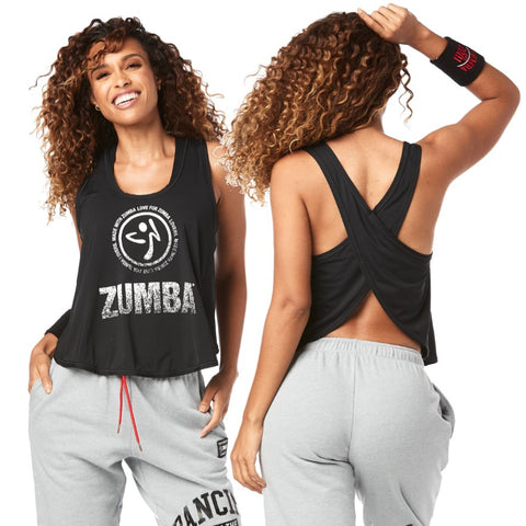 For Zumba Lovers Cross Back Tank (size L)