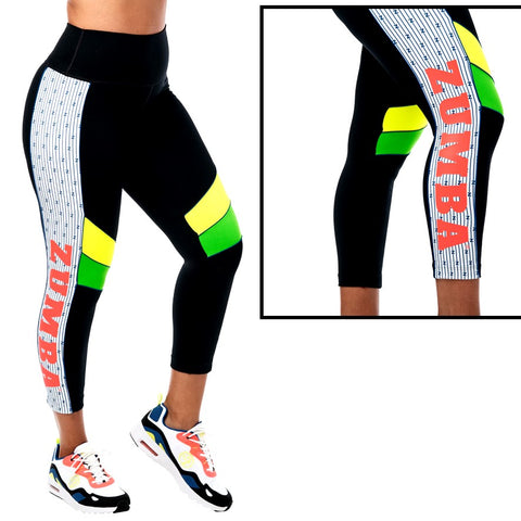 For Zumba Lovers High Waisted Crop Leggings