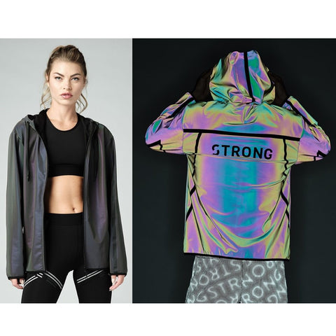Holographic Reflective Zip-Up Hoodie (Pre-Order)