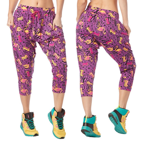 I Want My Zumba Cropped Harem Pants (size S, M, L)