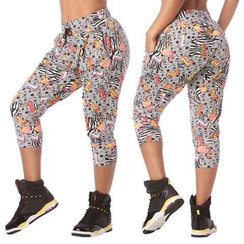 I Want My Zumba Cropped Harem Pants