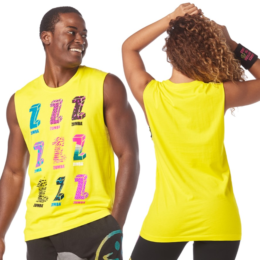 I Want My Zumba Muscle Tank (size M/L - only 1 left)