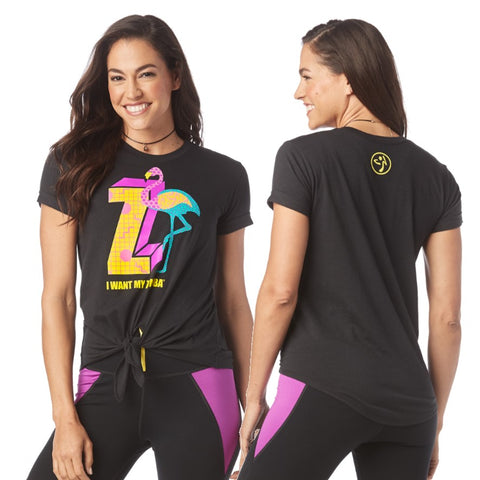 I Want My Zumba Tie Front Top (sizes S, M, L)