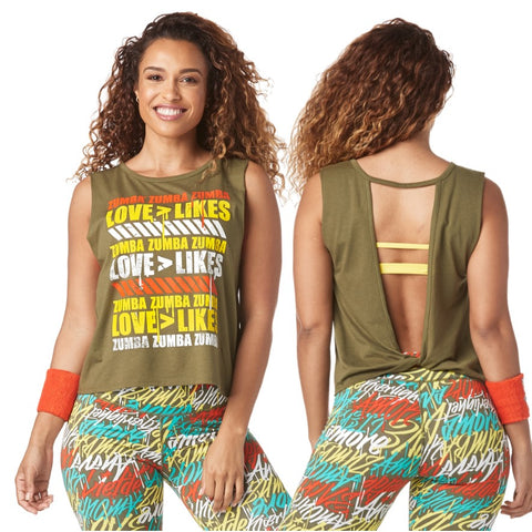 Love Over Likes Open Back Tank (size M, L, XL)