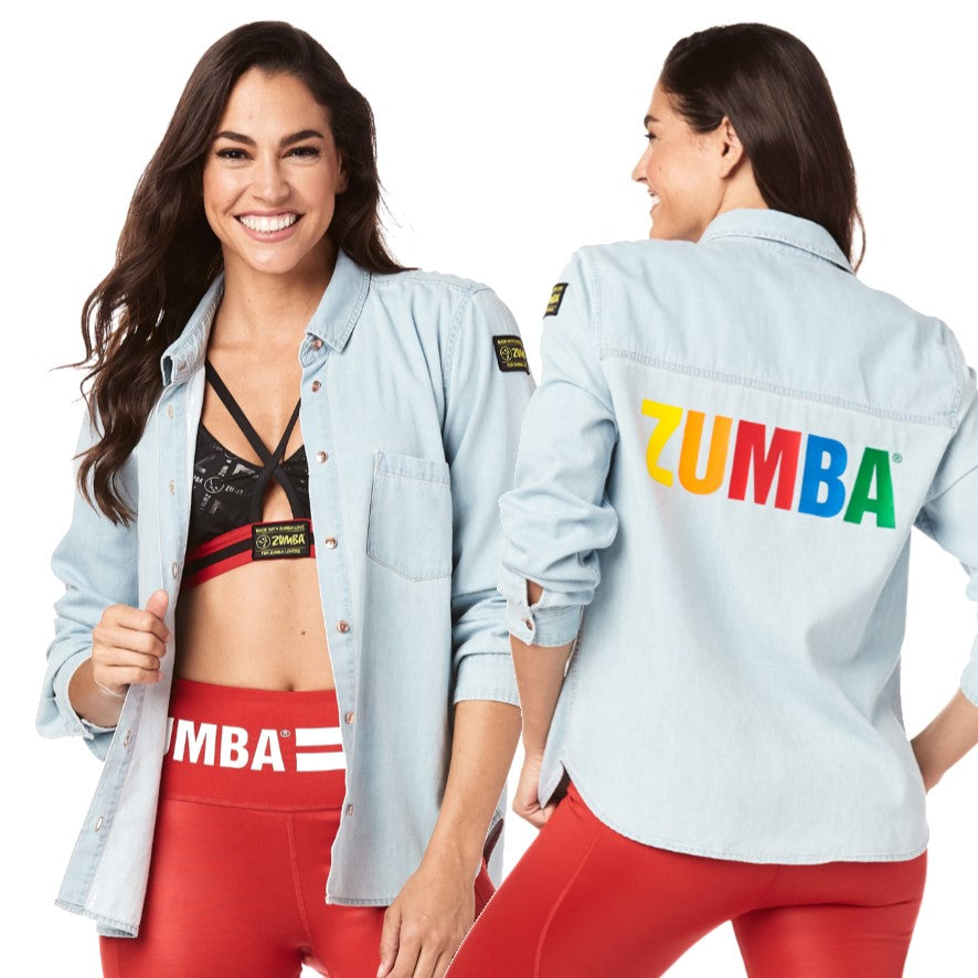 Made With Zumba Love Button Up (sizes M, L, XL, XXL)