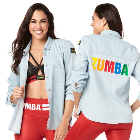 Made With Zumba Love Button Up