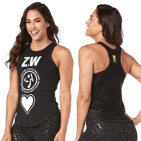 Made With Zumba Love High Neck Tank