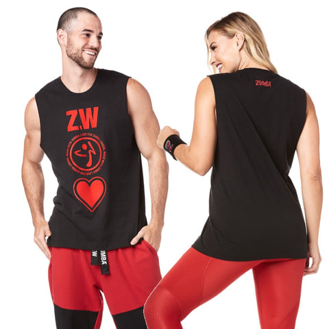 Made With Zumba Love Muscle Tank (size XS/S)