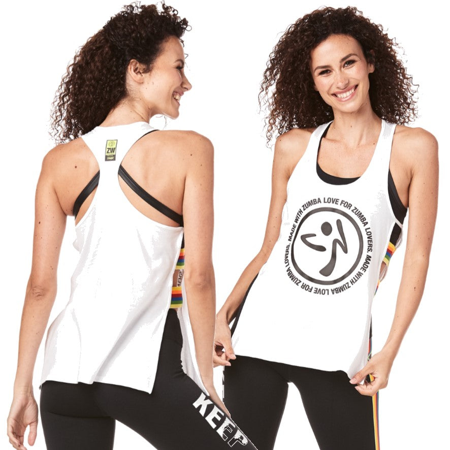 Made With Zumba Love Open Side Tank (size L, XL, XXL)
