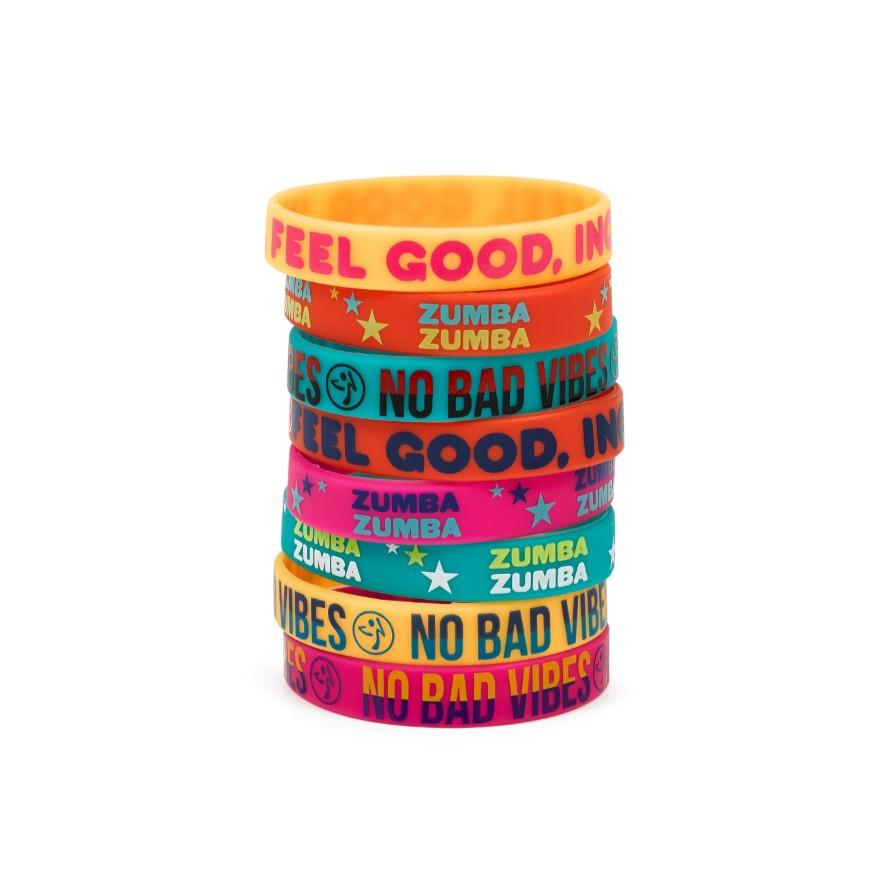 No Bad Vibes Rubber Bracelets 8pk