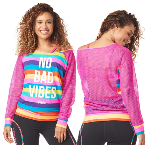 No Bad Vibes Zumba Pullover (size M - only 1 left)