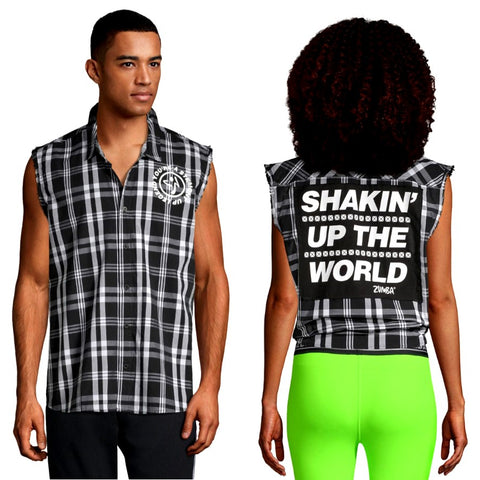 Shakin Up The World Sleeveless Button Down (size S - only 1 left)