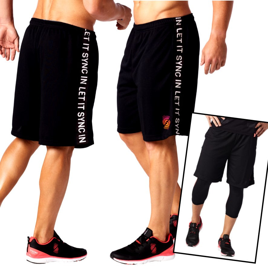 Let It Sync In Basketball Shorts (size M)