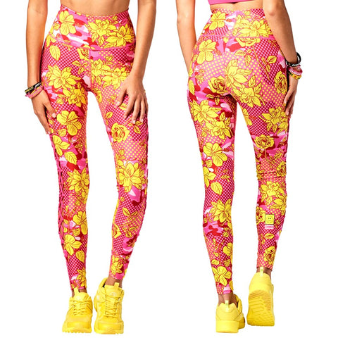 Spread Zumba Love High Waisted Laced Up Leggings (size XS, M, L)