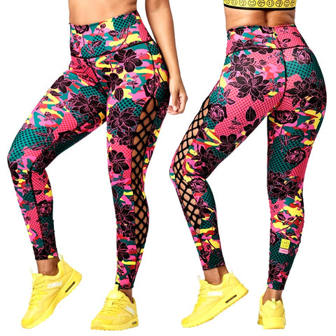 Spread Zumba Love High Waisted Laced Up Leggings (size M, L)