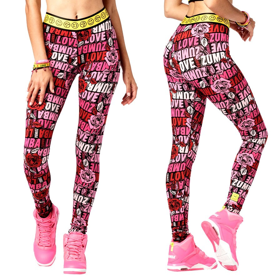 Spread Zumba Love Long Leggings (size XS - only 1 left)
