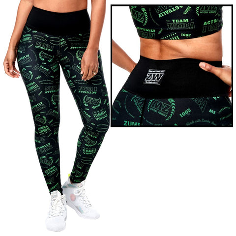 Team Zumba High Waisted Long Leggings (size XS, S, M)