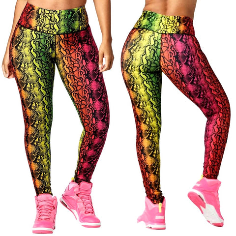 Wild For Zumba High Waisted Long Leggings (size XS, S, M)