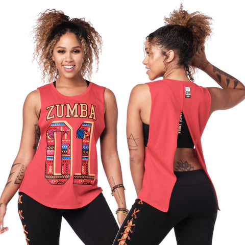 Zumba 01 Open Back Tank (size XL)