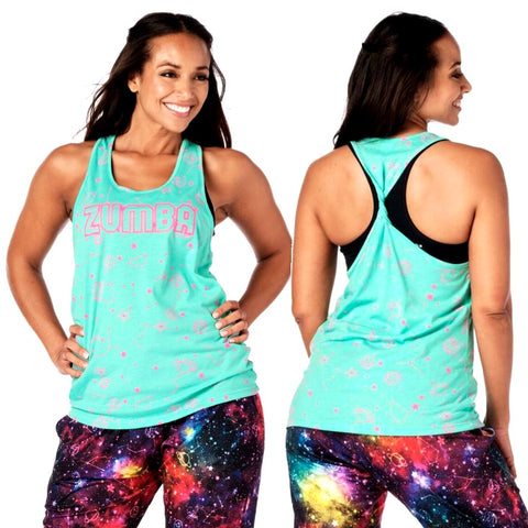 Zumba Constellation Twisted Back Tank (Pre-Order)