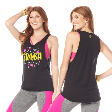 Zumba Dance Bold Loose Tank (sizes S, M & L)