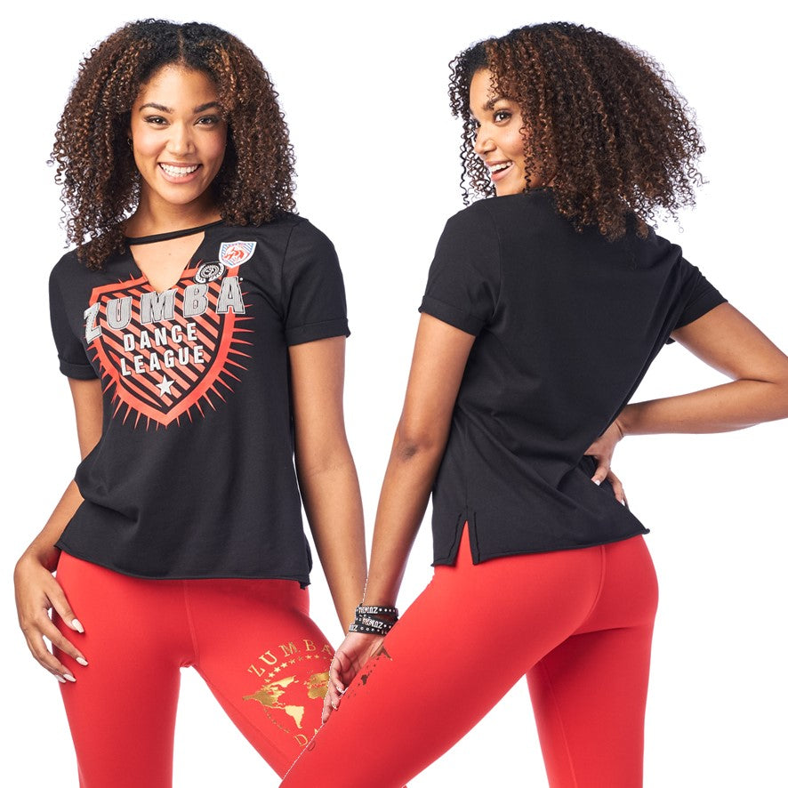 Zumba Dance League V Cut Out Top