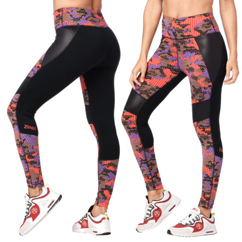 Zumba Dance Tribe High Waisted Panel Ankle Leggings (size XS, L, XXL)